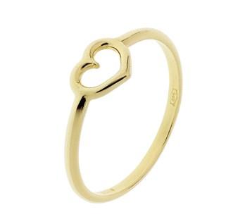 gouden ring met hartje